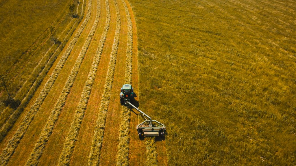 Aerial View of a Farm shot by a Drone