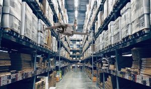 Drones automating warehouse managemnet.
