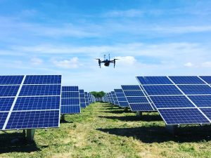 Above Surveying of Solar Panels with drones