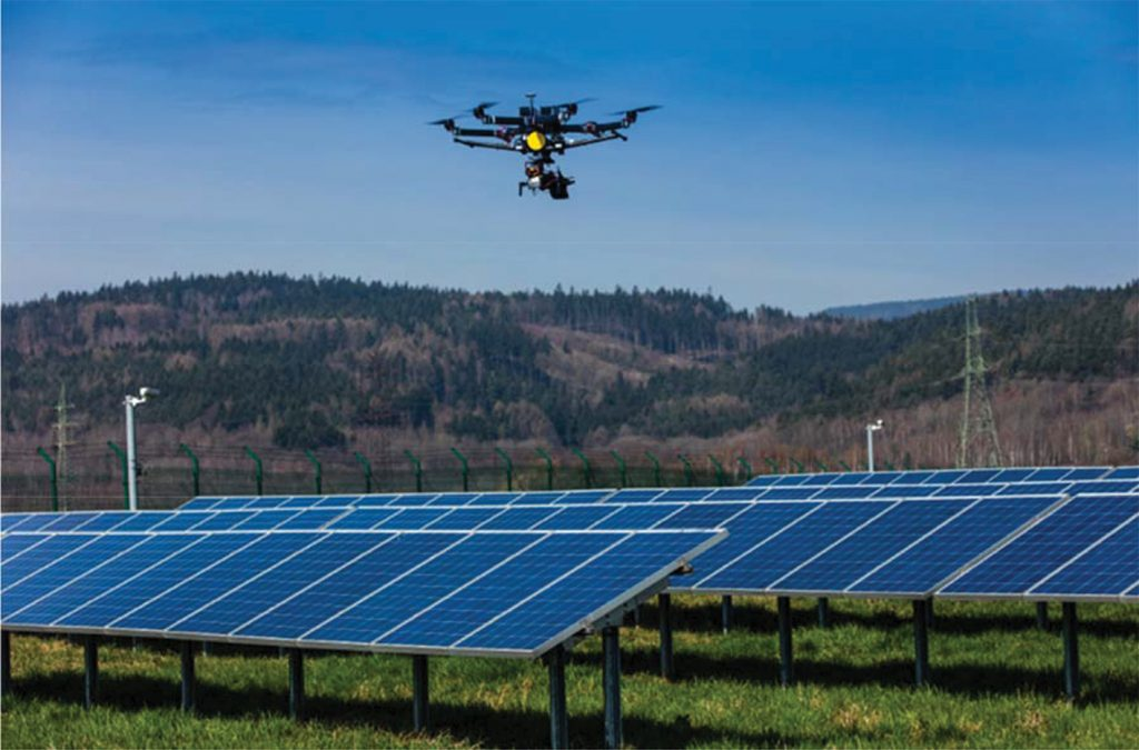 Deploying Drone to inspect solar panels