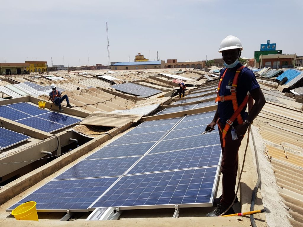 Manual Inspection of solar panels in Nigeira